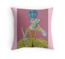 "Language Of The Fan-""I Am Desirous Of Your Acquaintance"" Throw Pillow"