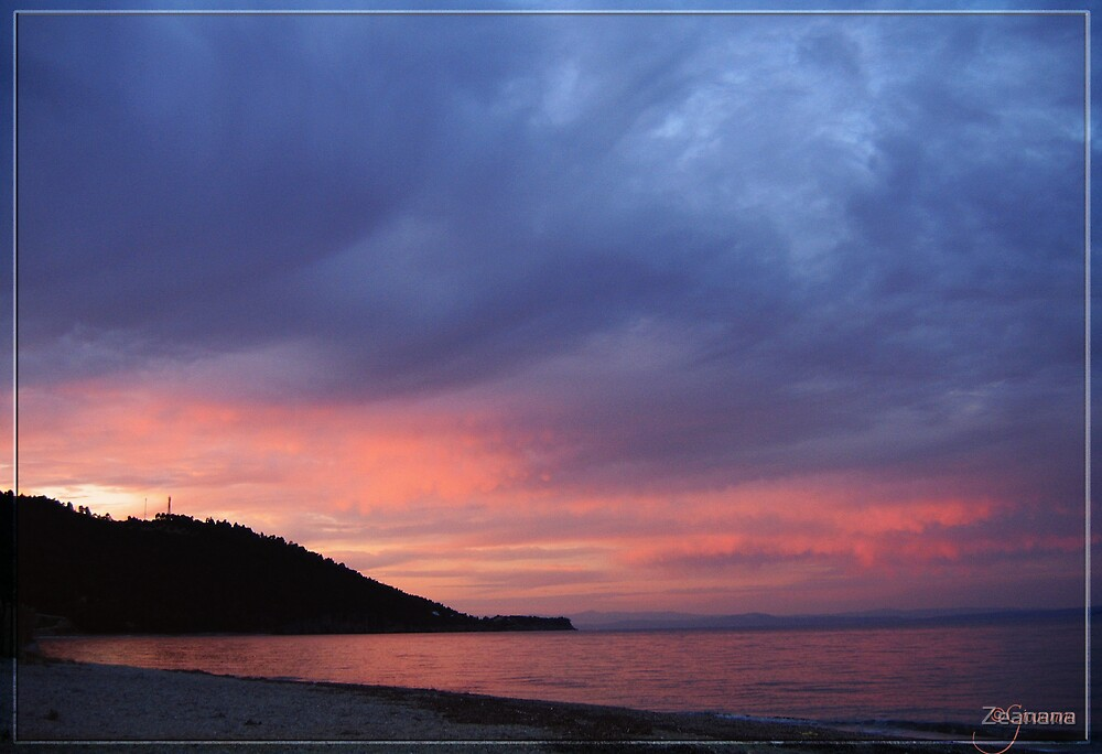 Sunset over Greek Coasts by Zeanana