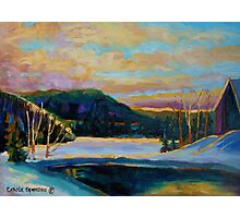 BEST CANADIAN PRINTS AND PAINTINGS WINTER LANDSCAPES GLORIOUS WINTER SUNRISE BY CAROLE SPANDAU Photographic Print