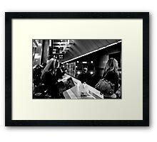Melbourne Central Train Station Framed Print