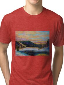 BEST CANADIAN PRINTS AND PAINTINGS WINTER LANDSCAPES GLORIOUS WINTER SUNRISE BY CAROLE SPANDAU Tri-blend T-Shirt