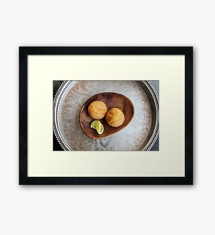 Sansa's Favorite Lemon Cakes Framed Print