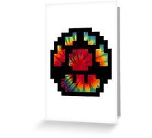 Tie Dye 8-Bit Super Mario Greeting Card