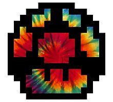 Tie Dye 8-Bit Super Mario Photographic Print