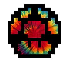 Tie Dye 8-Bit Super Mario by PalmGi