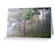 Foggy Shenandoah Mountain Top Greeting Card
