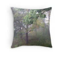 Foggy Shenandoah Mountain Top Throw Pillow