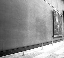 Empty Space in The Louvre by Celia Bell