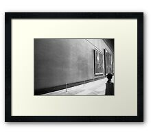 Empty Space in The Louvre Framed Print