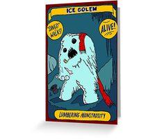 Ice Golem Greeting Card