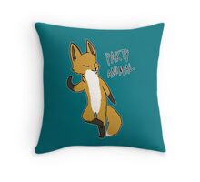 Party Fox Throw Pillow