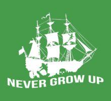 Never grow up - PETER PAN - Kids Clothes Baby Tee