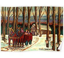 VERMONT SUGAR SHACK BEAUTIFUL WINTER LANDSCAPE  Poster