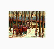VERMONT SUGAR SHACK BEAUTIFUL WINTER LANDSCAPE  Unisex T-Shirt