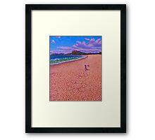 Sand Flowers Framed Print