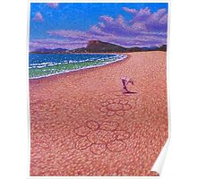 Sand Flowers Poster