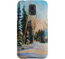 CANADIAN WINTER SCENE PAINTINGS WINTER ROAD BY CANADIAN ARTIST CAROLE SPANDAU Samsung Galaxy Case/Skin