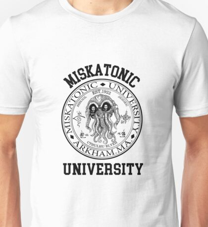 MISKATONIC UNIVERSITY HP LOVECRAFT  Unisex T-Shirt