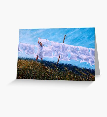Of Different Lines Greeting Card