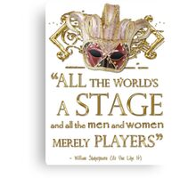 Shakespeare As You Like It Stage Quote Canvas Print
