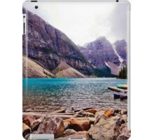 Canoeing in the Rockies iPad Case/Skin