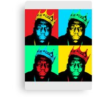 Biggie Warhol Canvas Print