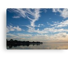 Of Feathery Clouds and Tranquil Mornings Canvas Print