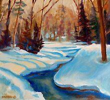 CANADIAN SCENERY BEAUTIFUL WINTER LANDSCAPE PAINTINGS BY CANADIAN ARTIST CAROLE SPANDAU by Carole  Spandau