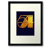 Studio 54 Golden Logo Framed Print