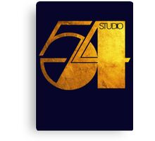 Studio 54 Golden Logo Canvas Print