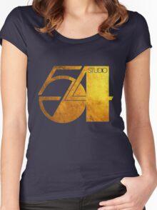 Studio 54 Golden Logo Women's Fitted Scoop T-Shirt