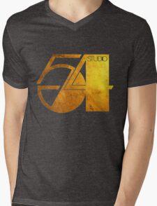 Studio 54 Golden Logo Mens V-Neck T-Shirt