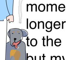 Rottie variation of the Postie Print Sticker