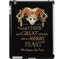 Shakespeare Comedy Of Errors Feast Quote iPad Case/Skin