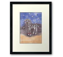 Christmas zebra vector Framed Print