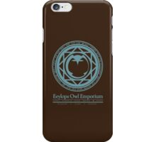 Eeylops Owl Emporium in Blue iPhone Case/Skin