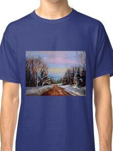 PAINTINGS OF CANADA WINTER LANDSCAPES AND SNOWSCENES CANADIAN PAINTINGS Classic T-Shirt