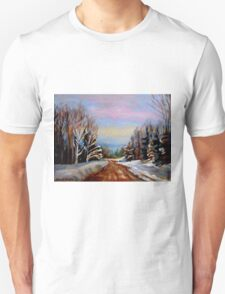 PAINTINGS OF CANADA WINTER LANDSCAPES AND SNOWSCENES CANADIAN PAINTINGS T-Shirt