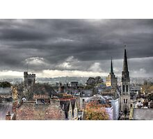 Looking West from Oxfords North Gate Tower Photographic Print