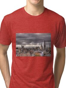 Looking West from Oxfords North Gate Tower Tri-blend T-Shirt