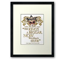 Shakespeare All's Well That Ends Well Quote Framed Print