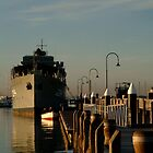 In my Shadow, Gem Pier, Williamstown by Joe Mortelliti