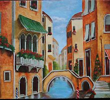 Buildings by the Canal by Bijal