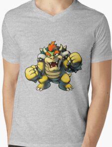 Bowser Mens V-Neck T-Shirt