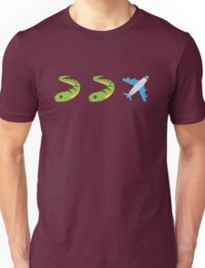 Snakes on a Plane Emoji Graphic Unisex T-Shirt