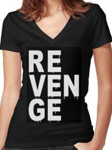 REVENGE Women's Fitted V-Neck T-Shirt