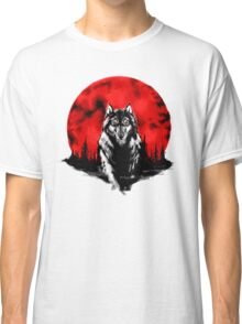 RED HOT MOON - Wolf Classic T-Shirt