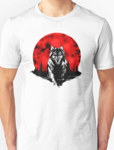 RED HOT MOON - Wolf Unisex T-Shirt