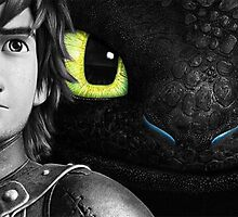 Hiccup and Toothless by LookItsHailey