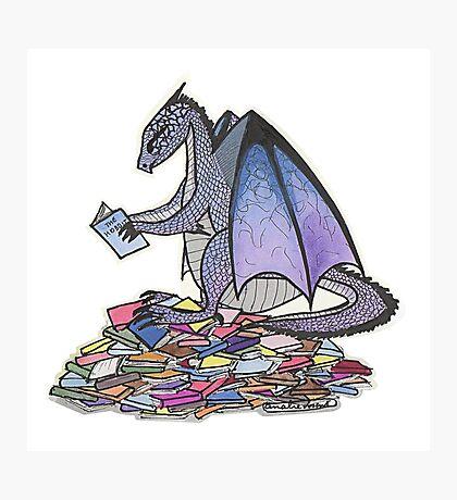 Book Dragon Photographic Print